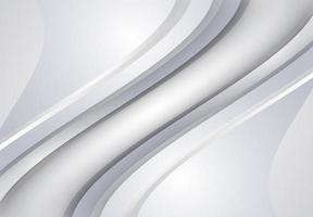 Witte en grijze curve en golvende achtergrond vector