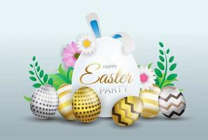 Gelukkige Pasen-decoratieachtergrond vector