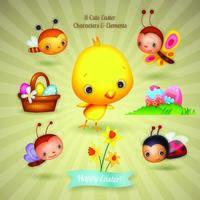 Acht leuke paasfiguren en illustratie-elementen
