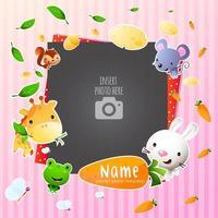 Speelse enkele fotolijstjes voor kinderen vector