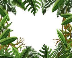 Leeg jungle verlof frame vector