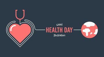 Platte wereld gezondheid dag poster