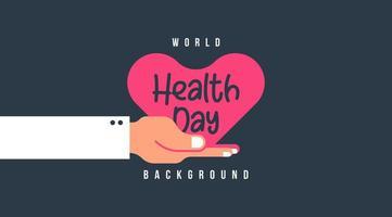 Platte wereld gezondheid dag illustratie
