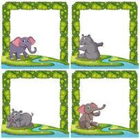 Set van dieren op frame vector