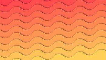 Abstracte gradiënt golf achtergrond met papier gesneden vormen
