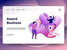 Award zakelijke website sjabloon vector