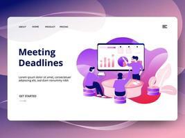 Meeting Deadlines website sjabloon vector