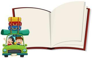 Een notitieboekje met koppel road trip vector