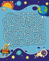 Een space doolhof puzzelspel