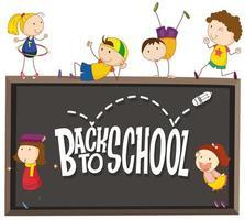 Terug naar school schoolbord bericht