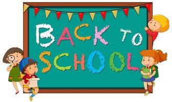 Terug naar school schoolbord sjabloon