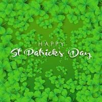 Gelukkige St Patricks Dagachtergrond met klaver