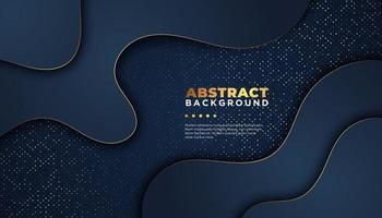 Donkere abstracte achtergrond met overlappende lagen. Luxe ontwerpconcept.
