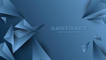Blauwe abstracte 3D-papier vormen achtergrond vector