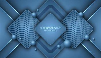 Klassieke blauwe overlappende geometrische vormen achtergrond