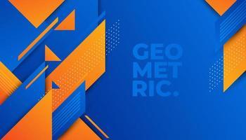 Abstract blauw en oranje geometrisch patroon
