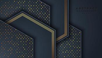 Donkere achtergrond met overlappende zeshoekige lagen