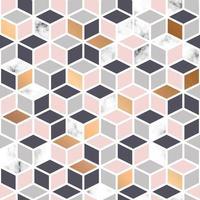 Roze en gouden marmeren textuur, naadloos patroon vector