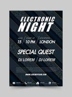 Electronic Music Festival en Club Party Flyer vector