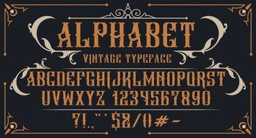 decoratief vintage alfabet vector