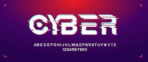 futuristisch gewaagd lettertype in minimalistische stijl vector