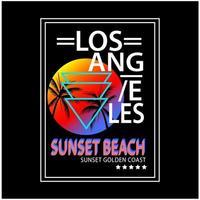 Los Angeles typografie afdrukken