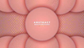 roze achtergrond met cirkels en glitter stippen