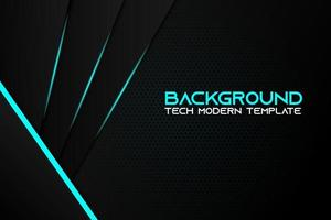 metallic blauwe en zwarte diagonale vorm achtergrond