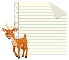 een hert op notitiesjabloon