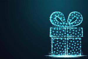 geschenkdoos in modern abstract blauw tech-ontwerp