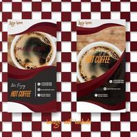 geruit koffie café brochureontwerp