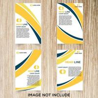 4-delige gele en blauwe flyer set