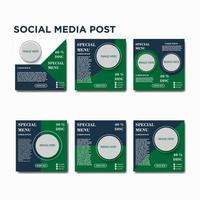 sociale media post menureeks