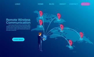 draadloos communicatie op afstand ontwerp