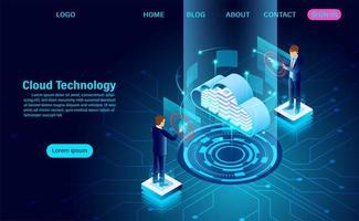 cloud datacenter concept
