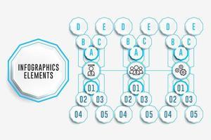 infographics elementen in x-formatie