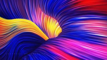 abstract kleurrijk vloeibaar lijncanionontwerp
