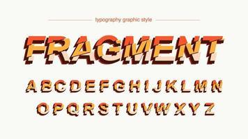 oranje gesneden typografie vector