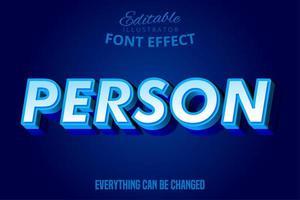 persoon eenvoudig vetgedrukt teksteffect vector
