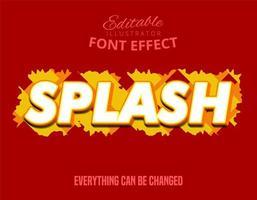 splash vet teksteffect