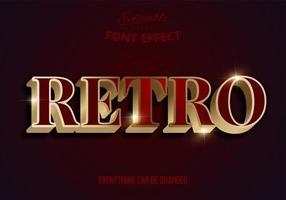 retro rood en goud bewerkbaar lettertype