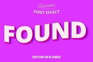roze lettertype gevonden vector