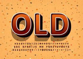 oud vintage display lettertype ontwerp vector