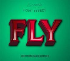 vlieg tekst, bewerkbaar teksteffect