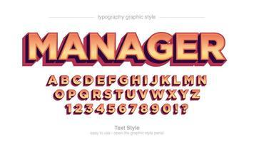 moderne 3d vet oranje lettertype vector