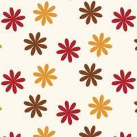 naadloze herfst bloemenpatroon vector