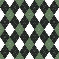 naadloos groen en zwart argylepatroon
