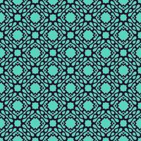 Marine en turquoise geometrische patroon vector