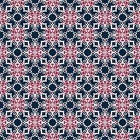 Marine en roze geometrisch patroon
