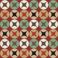 naadloos retro cirkelvormig patroon